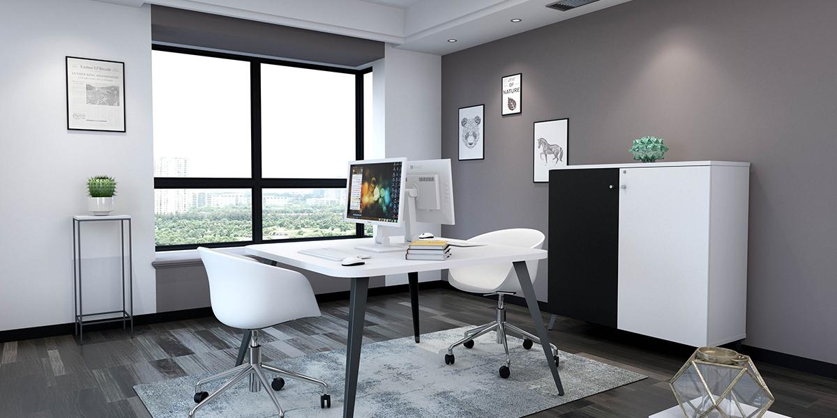 Table et armoire avec piétement design MBA production